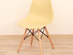 Židle CINKLA 2 NEW - béžová capuccino-vanilka + buk