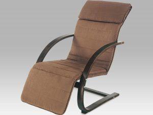 Relaxační křeslo QR-31 BR hnědé/hnědá látka - II. jakost