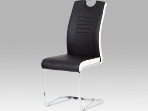 Jídelní židle DCL-6 LIM - limetková/bílé boky