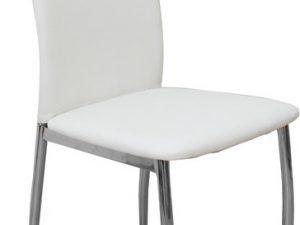 Židle ERVINA - bílá ekokůže