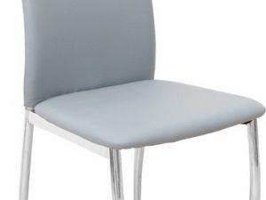 Židle ERVINA - šedá ekokůže