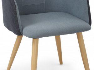 Jídelní židle s područkami K288 světle šedá/béžová