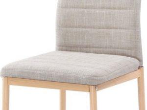 Židle COLETA NOVA - béžová látka / buk