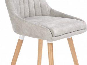Jídelní židle K-284 světle šedá