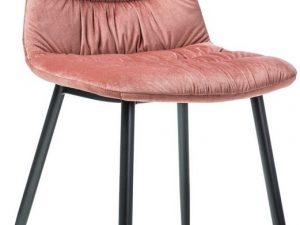 Jídelní čalouněná židle VEDIS růžová