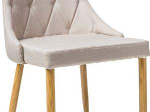 Jídelní čalouněná židle TRIX II béžová/dub
