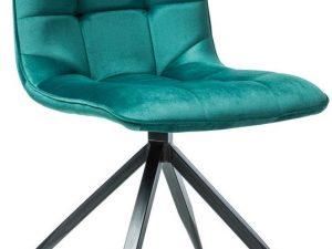 Jídelní čalouněná židle TEXO zelená