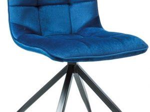 Jídelní čalouněná židle TEXO modrá