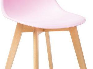 Jídelní židle MORIS růžová/buk
