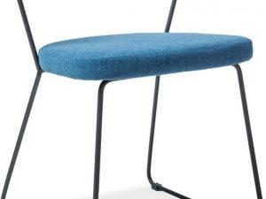 Jídelní čalouněná židle HELIX modrá