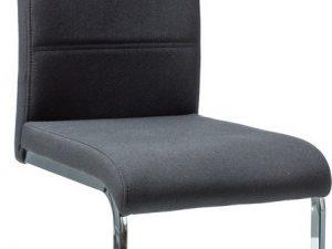 Jídelní čalouněná židle H-4 černá látka