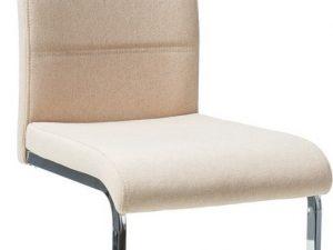 Jídelní čalouněná židle H-4 béžová látka