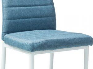 Jídelní čalouněná židle H-266 modrá