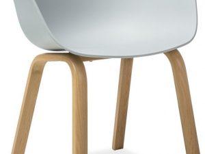 Jídelní židle EGO šedá/dub