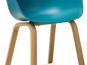 Jídelní židle EGO modrá/dub