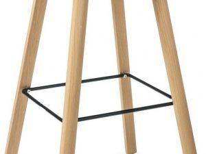 Barová židle STING buk/šedá