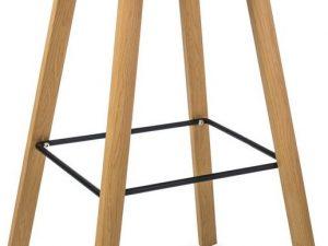 Barová židle STING dub/bílá