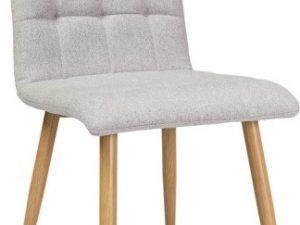 Jídelní čalouněná židle OTTO béžová/dub