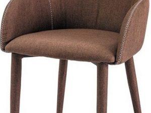 Jídelní čalouněná židle OSCAR hnědá