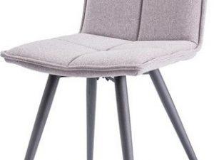 Jídelní čalouněná židle DARIO šedá