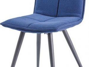 Jídelní čalouněná židle DARIO tmavomodrá