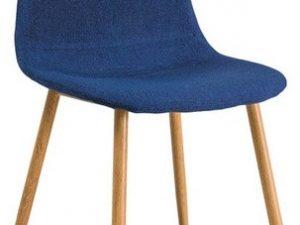 Jídelní čalouněná židle FOX modrá