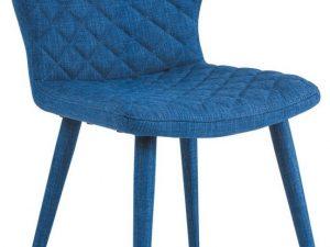 Jídelní čalouněná židle LOGAN modrá