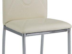 Jídelní čalouněná židle H-623 krémová/chrom