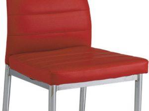 Jídelní čalouněná židle H-260 červená/chrom