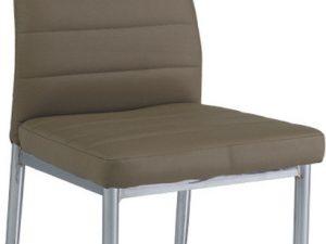 Jídelní čalouněná židle H-260 tmavě béžová/chrom