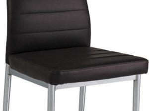 Jídelní čalouněná židle H-260 hnědá/chrom