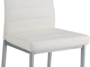 Jídelní čalouněná židle H-260 bílá/chrom