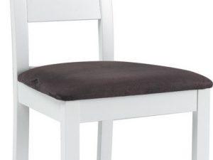 Jídelní čalouněná židle CB-44 bílá/šedá