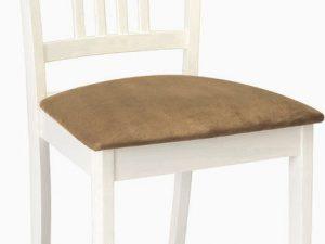 Jídelní dřevěná židle CD-63 bílá/béžová