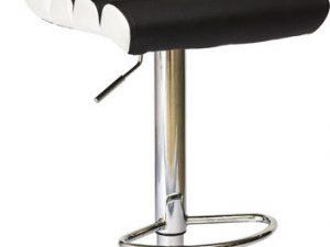 Barová židle KROKUS C-617 černá/bílá