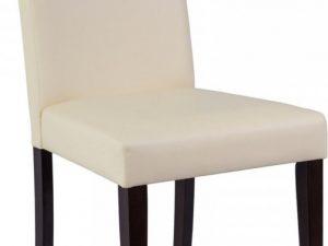 Jídelní čalouněná židle CD-77 krémová/venge