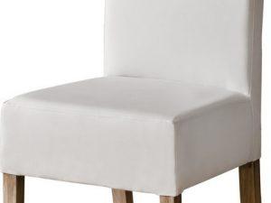 Jídelní čalouněná židle CARMELO bílá