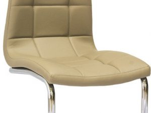 Jídelní čalouněná židle H-103 tmavě béžová