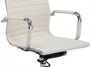 Kancelářská židle Q-040 eko krémová