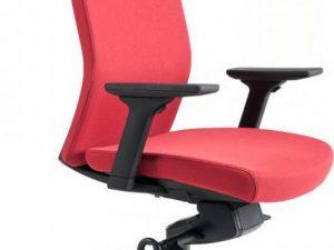 Office Pro Kancelářská židle J2 SP černý plast - červená 202