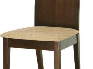 Židle ABRIL - buk merlot / zlato béžová