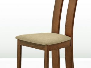 Dřevěná židle DESI - třešeň/látka hnědá