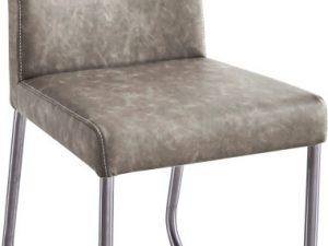 Jídelní židle INDRA typ 2 - šedohnědá ekokůže