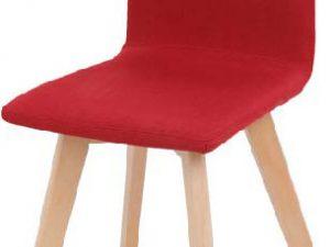 Židle LODEMA - červená / buk