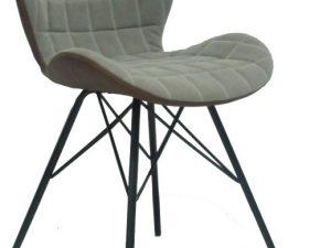 Židle LORANA - béžová / hnědá