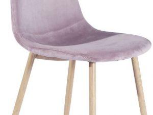 Židle Makaria - růžová látka / kov s povrchovou úpravou buk