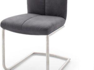 Židle VERMONA TYP 3 - látka šedá / chrom
