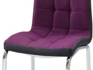 Jídelní židle GERDA NEW - fialová / černá