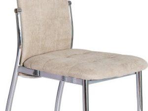 Židle ADORA NEW - hnědá látka / kov