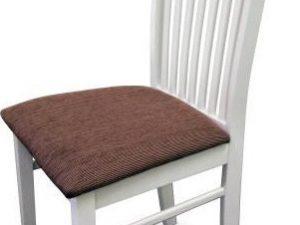 Židle ASTRO NEW - bílá / hnědá látka